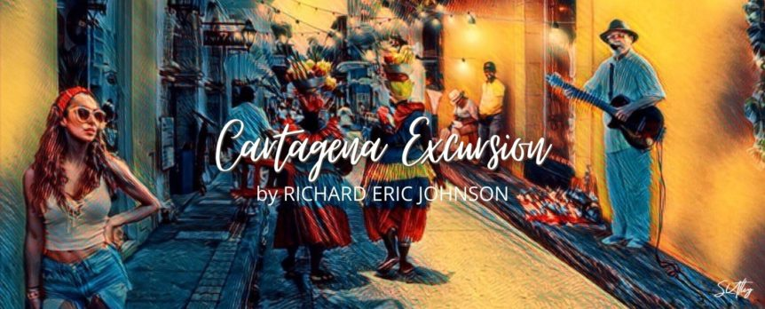 Cartagena Excursion accompanying artwork with title and author.