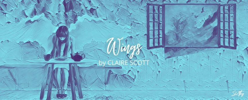 Wings by Claire Scott title image artwork by Susan Utley