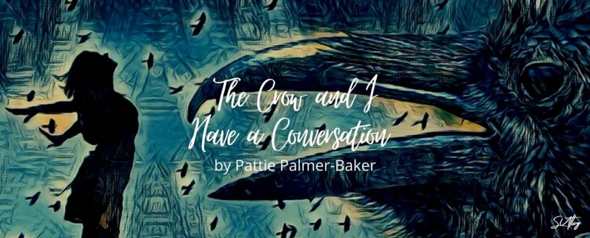 The Crow and I Have a Conversation by Pattie Palmer-Baker